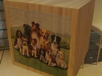 urna con decoupage cagnolini