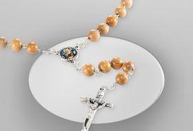 corona rosario legno olivo