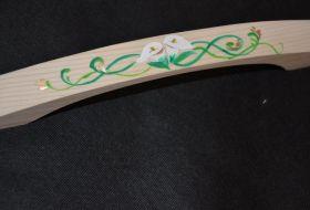 maniglia legno con calle