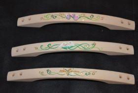 maniglie legno dipinte a mano