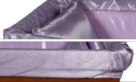 Prestige aderente lilla laminato argento - dettaglio imbottitura