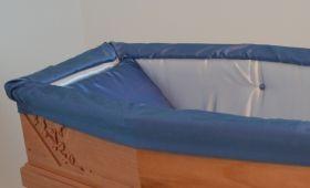 Preziosa aderente bicolore azzurro organza blu
