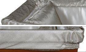 Prestige aderente grigio laminato argento - dettaglio imbottitura