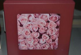 urna click bordeaux con rose