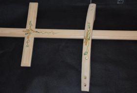kit legno spiga dipinto a mano