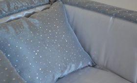 Milleluci aderente bicolore grigio perla antracite dettaaglio
