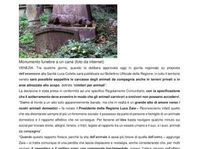 In Veneto sara possibile seppellire Fido in giardino-001