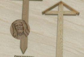 Provvisori croci per cimitero