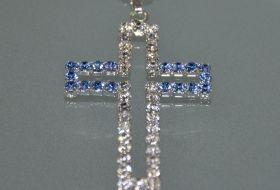 Croce brillantini doppia